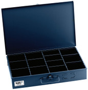 Klein Tools Adjustable-Compartment Boxes, W x 12 in D x 3 in H,, 1/EA, #54451