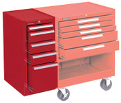 Kennedy Hang-On Cabinets, 13 5/8 in x 18 in x 29 in, 5 Drawers, Smooth Red, 1/EA, #185XR