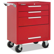 Kennedy Industrial Roller Cabinets with Swing-down Panel, 3 Drawer, 27 in High, Red, 1/EA, #273XR