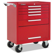 Kennedy Industrial Series Roller Cabinets, 27 in x 18 in x 35 in, 5 Drawers, Red w/Slide, 1/EA, #275XR