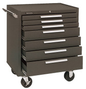 Kennedy Industrial Series Roller Cabinets, 27 x 18 x 35, 7 Drawers, Brown , w/Slide, 1/EA, #277XB