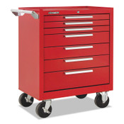 Kennedy Industrial Series Roller Cabinets, 27 x 18 x 35, 7 Drawers, Smooth Red, w/Slide, 1/EA, #277XR