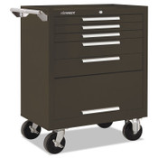 Kennedy Industrial Series Roller Cabinets, 29 x 20 x 35 in, 5 Drawers, Brown, w/Slide, 1/EA, #295XB