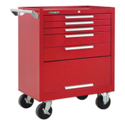 Kennedy Industrial Series Roller Cabinets, 29 x 20 x 35 in, 5 Drawers, Red, w/Slide, 1/EA, #295XR