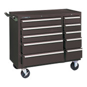 Kennedy Industrial Roller Cabinets, 10 Drawer, 39 3/8 in High, Brown, 1/EA, #310XB