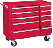 Kennedy 64311 10 DRAWER RED ROLLER CABINET W/ BB SLIDES, 1/EA, #310XR