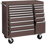 Kennedy 64314 MAINT CART 15 DRAWER B.B SLIDES BROWN, 1/EA, #315XB