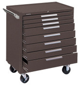 Kennedy Industrial Series Roller Cabinets, 34 in x 20 in x 40 in, 8 Drawers, Brown, 1/EA, #348XB