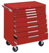 Kennedy Industrial Series Roller Cabinets, 34 in x 20 in x 40 in, 8 Drawers, Smooth Red, 1/EA, #348XR