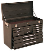 Kennedy Machinists' Chests, 26 1/8 in x 11 7/8 in x 18 7/8 in, Brown Wrinkle, 1/EA, #3611B