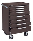 Kennedy Industrial Series Roller Cabinets, 27 x 18 x 39, 8 Drawers, Brown, w/Slide, 1/EA, #378XB