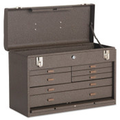 Kennedy Machinists' Chests, 20 1/8 in x 8 1/2 in x 13 5/8 in, 1694 cu in, Brown Wrinkle, 1/EA, #520B