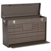 Kennedy Machinists' Chests, 26-3/4 in x 8-1/2 in x 18 in, 3000 cu in, Brown Wrinkle, 1/EA, #52611B