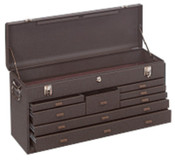 Kennedy Machinists' Chests, 26 3/4 in x 8 1/2 in x 13 5/8 in, Brown Wrinkle, 1/EA, #526B