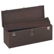 """Kennedy 24 """" Professional Tool Boxes, 24 1/8""""W x 8 5/8""""D x 9 3/4""""H, Steel, Brown Wrinkle, 1/EA, #K24B"""
