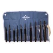 Mayhew™ 10 Pc. Punch Kits, Round; Pointed, English, Pouch, 1/KIT, #62005
