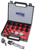 Mayhew™ 16 Pc Hollow Punch Tool Kits, Round, English, Handle, Case, 1/SET, #66000