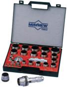 Mayhew™ 27 Piece Hollow Punch Tool Kits, Round, English, Case; Handle; Mandrin, 1/ST, #66002