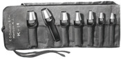 C.S. Osborne Punch Sets, Arch Punch Set, English, 7 Punches 1/4 in - 1 in, Pouch, 1/SET, #K14