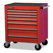 Stanley Products 450HS Roller Cabinets, 60 in x 27 3/4 in x 39 1/4 in, 6 Drawers, Red, 1/EA, #J45030