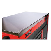 Stanley Products 550S Series Workstation Top, Stainless Steel, 25 in Length, 57 in Width, Black, 1/EA, #4557SST