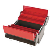 Stanley Products Cantilever Tool Boxes, 10 in D, Steel, Red/Brown, 1/EA, #J9951