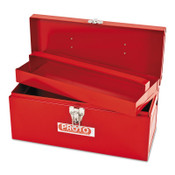 Stanley Products General Purpose Tool Boxes, Single Latch, 14 in x 6 in x 6 1/2 in, Steel, Red, 1/EA, #J9954NA
