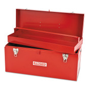 Stanley Products General Purpose Tool Boxes, Double Latch, 20 x 8 1/2 x 9 1/2, Steel, Red, 1/EA, #J9975NA