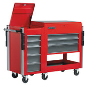 Stanley Products Utility Cart Side Cabinets, 18 in x 20 in x 34 in, 5 Drawers, Red, 1/EA, #UC18345SGSC