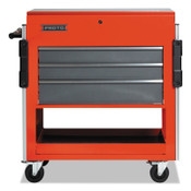 Stanley Products Modular Utility Carts, 37 in x 20 in x 43 in, 3 Drawers, Safety Red; Gray, 1/EA, #UC37433SG