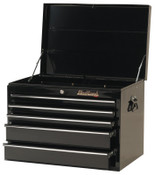 Stanley Products 5 Drawer Top Chests, 27 in x 18 in x 19 in, Black, 1/EA, #92705C