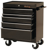 Stanley Products 5 Drawer Roller Cabinets, 27 in x 18 in x 35 in, 5 Drawers, Black, 1/EA, #92705R