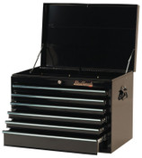 Stanley Products Blackhawk 6 Drawer Top Chests, 27 in x 18 in x 19 in, Black, 1/EA, #92706C