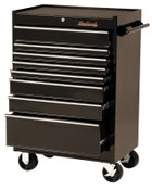 Stanley Products 8 Drawer Roller Cabinets, 27 in x 18 in x 41 1/2 in, 8 Drawers, Black, 1/EA, #92708R