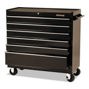 Stanley Products 6 Drawer Roller Cabinets, 41 in x 18 in x 41 1/2 in, 6 Drawers, Black, 1/EA, #94106R