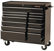 Stanley Products 13 Drawer Roller Cabinets, 41 in x 18 in x 41 1/2 in, 13 Drawers, Black, 1/EA, #94113R
