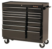 Stanley Products 14 Drawer Roller Cabinets, 41 in x 18 in x 41 1/2 in, 14 Drawers, Black, 1/EA, #94114R