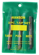 Stanley Products Plastic Pouched Sets, Taper, Bottoming & Plug, 1/4 in - 28 NF, 1/ST, #2623
