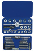 Stanley Products 41-pc Machine Screw / Fractional / Metric Tap and Hex Die Sets, 1/SET, #26319