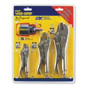 Stanley Products The Original™ 3 Pc. Locking Pliers Set with 8-in-1 Screwdriver, 1/EA, #2077703