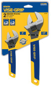 Stanley Products 2-pc Adjustable Wrench Sets,  6 in; 10 in Long, 1/ST, #2078700
