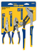 Stanley Products 3 Pc. ProPlier Sets, Long Nose/Slip Joint/Groove, 1/SET, #2078704