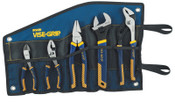 Stanley Products 5-pc ProPlier Set, Slip Joint, Lineman Plier, Adj. Wrench, Groove Joint,Tray, Bag, 1/ST, #2078708