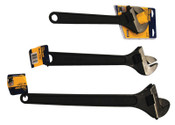 Stanley Products Three-Piece Adjustable Wrench Set, 1/KT, #2078721