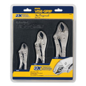 Stanley Products The Original™ 3 Pc. Locking Pliers Set, Tray, 1/EA, #4935580