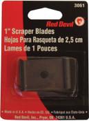 "Red Devil Single Edge Scraper Blade; 1"" Blade Fits 3010 Wood/Paint Scraper (Card of 2 EA), 2/CD, #3061"