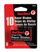 Red Devil RAZOR BLADES SINGLE EDGE, 10/CD, #3270
