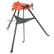Ridge Tool Company Tri-Stand Chain Vise, 1/8 in - 2 1/2 in Pipe Cap, 1/EA, #16703