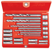Ridge Tool Company Screw Extractor Sets, Drill Bits 1-5;Extractors 1-5;Drill Guides Nos. 921/1821, 1/SET, #35585