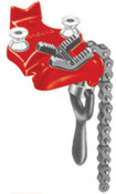 Ridge Tool Company Bottom Screw Bench Chain Vises, 1/8 in - 2 in Pipe Cap, 1/EA, #40175
